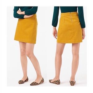 J. Crew Mini Skirt in Corduroy